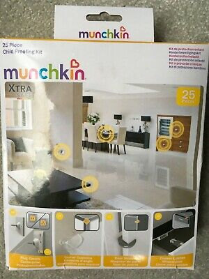 Munchkin 25 Piece Child Proofing Kit Plug Cover Door Stop Corner Cushion Drawer