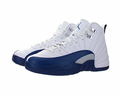 ad1b88b55d8437 Nike Air Jordan 12 Retro XII 153265-113 Grade School White French Blue GS