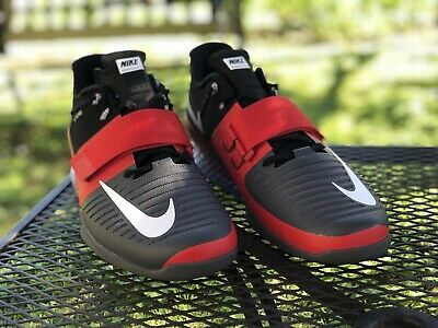 f547f51404bf9 NIKE ROMALEOS 3 Mens Weightlifting CrossFit Shoes Red/Grey Size 14 ...