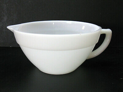Vintage 1950s Fire King White Batter / Mixing Bowl with Handle EUC Marked