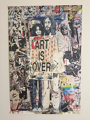 Mr. Brainwash John Lennon & Yoko Ono Authentic Lithograph Print Pop Art Poster