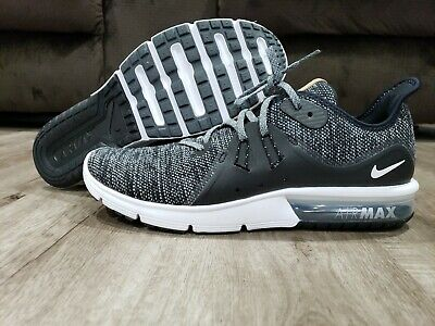 Men's Nike Air Max Sequent 3 Running Shoes Black / White / Grey 13 921694 011