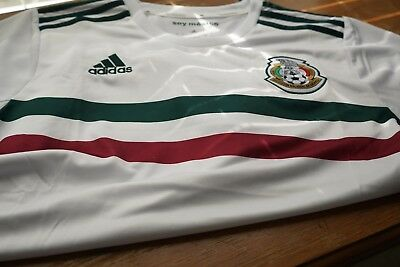 006f6ab48 ADIDAS MEN'S MEXICO 18/19 Away Long Sleeve Jersey White/Core Green ...