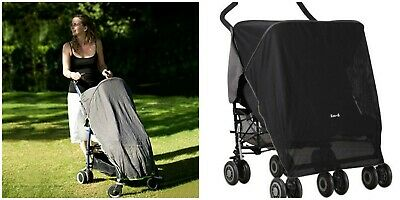 Sun/Sleep/Snooze/Nap Blackout Net Shade for Double Twin Single Buggy Pushchair
