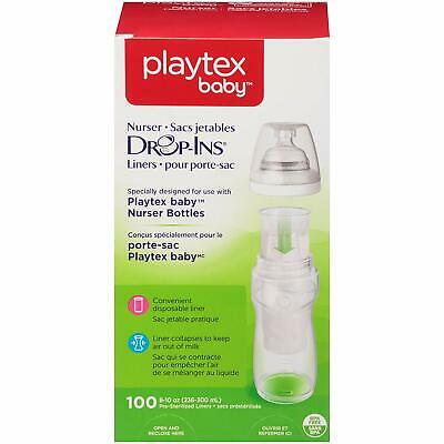 Playtex Baby Nurser Drop-Ins Baby Bottle Disposable Liners, Closer to Breastfeed