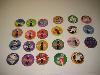 Vintage Coca Cola Cap Pog Lot of  23, Coke Collection, Collectible, Advertising