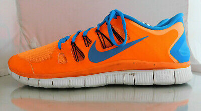 finest selection fae21 158a6 Mens Nike Free 5.0+ Running Shoes Size  14 Color  Total Orange Blue Hero