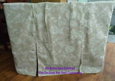 """MEDIUM 30"""" Dog Crate Cover Quality Cotton @TheDoZeeePetBedCo Floral EllieBo"""