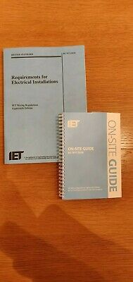 18th Edition Wiring Regulations + On Site Guide  = Both Books!!