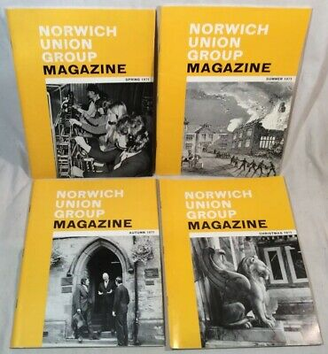 4x Collectable Rare Vintage Norwich Union Group Magazines 1971