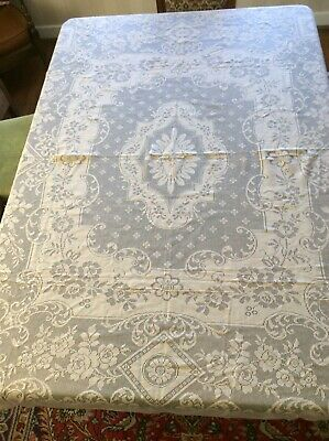 Vintage Beige cotton polyester floral pattern Lace tablecloth