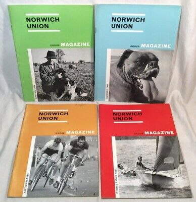 4x Collectable Rare Vintage Norwich Union Group Magazines 1965