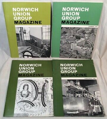 4x Collectable Rare Vintage Norwich Union Group Magazines 1968