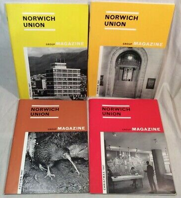 4x Collectable Rare Vintage Norwich Union Group Magazines 1967