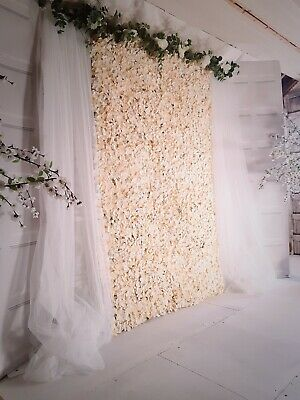Flower Wall For Sale Blush And Cream,  Stand/drapes Included