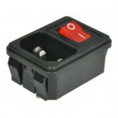 IEC 3-PIN Switched Socket Outlet with Red Light   UK STOCK   FREE DELIVERY