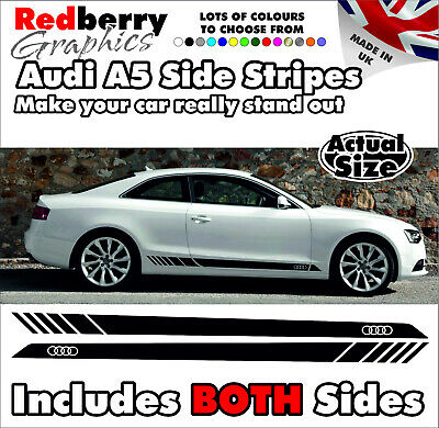 Audi A5 Side Stripes Decals Stickers S Rs Quattro Vinyl Graphics 024