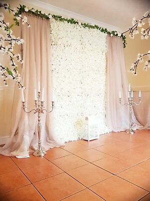 Flower Wall For Sale ,ivory , Stand/drapes Included