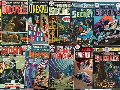 HOUSE OF SECRETS,HOUSE OF MYSTERY, SINISTER HOUSE,UNEXPECTED ETC (70's DC LOT!)