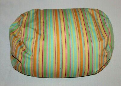 "Moshi Pillow Colorful Microbead Neck Plush Stuffed Tube 13"" HTF Striped Squishy"