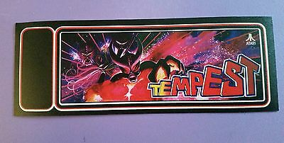 Tempest arcade marquee sticker. 3 x 8. (Buy any 3 of my stickers, GET ONE FREE!)