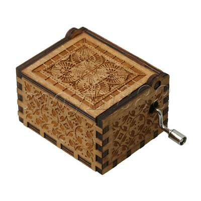 Hand Carved Wooden Music Box Crafts Mini Musical Box for Musical Parts