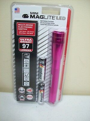 Maglite PRO 272 Lumens Pink Camo LED SP22RZ7 Mini Mag 2-Cell AA Mom Gift USA