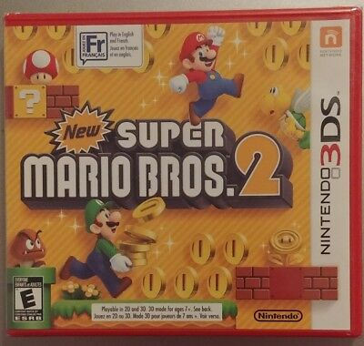 NEW SUPER MARIO Bros  2 Nintendo 3DS, English & French, New Factory Sealed!