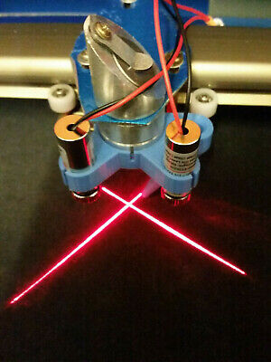 K40 Laser Air Assist Nozzle for 40/50W CO2 push fit with line laser 2x mounts