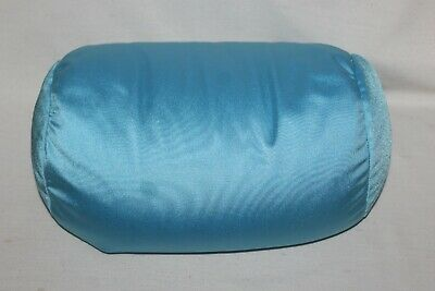 "Moshi Style Pillow BLUE Squishy Microbead Neck Plush Stuffed Tube 14"" HTF Lumbar"