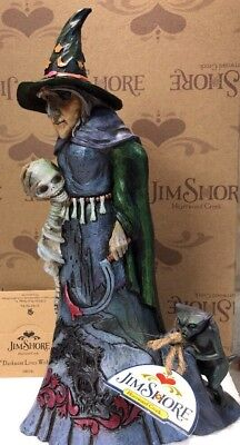 Jim Shore Halloween Spooky Evil Witch w/Skull Goblin Demon DARKNESS LIVES WITHIN