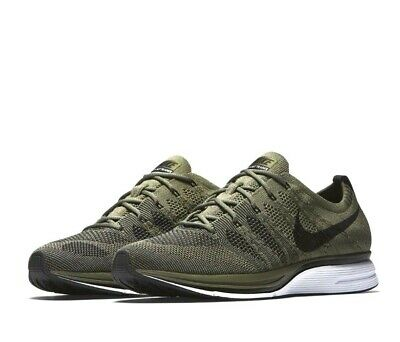 c7178d8b8df70 NIKE FLYKNIT TRAINER Mens Running Shoes Medium Olive Black -  59.94 ...