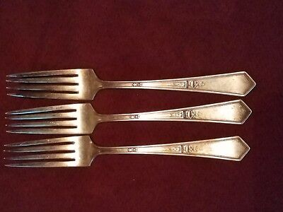 LA TOURAINE 1920 DINNER FORK BY ROGERS