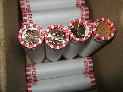 2019 P pennies 15 obw rolls heads/tails, right from the armory.Tight rolls clean
