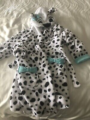 Girls Disney 101 Dalmations Dressing Gown Age 4