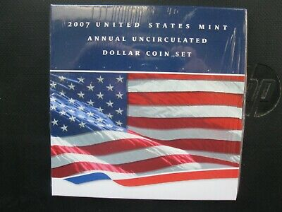 "2007 United States Mint Annual Uncirculated Dollar Coin Set ""sealed""!!"