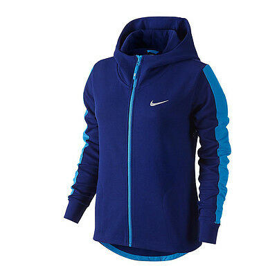 a3d6e941c84 NEW Nike Mesh Hoodie Jacket Womens Athletic Blue Zip Running Training S 4 M   75