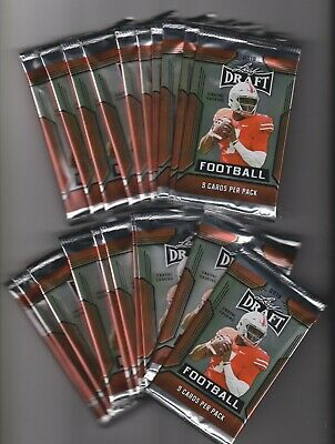 2019 Leaf Draft Football Lot of 20 Unopened Packs Prospects and Draft Picks
