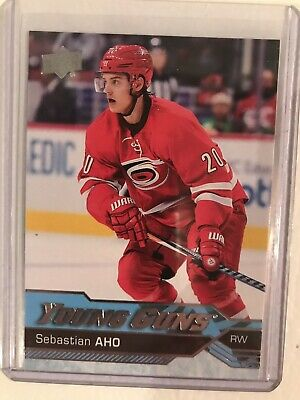 2016-2017 16-17 UD Upper Deck Young Guns Sebastian Aho RC Rookie SP