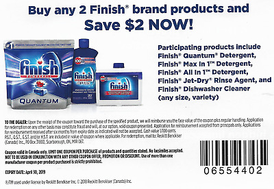 save on FINISH Quantum Detergent Max Jet-Dry Rinse Dishwasher Cleaner [Canada]