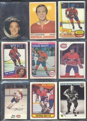 (7) Montreal Canadiens Hockey Card Lots of (50) 1970's & Up: You Pick Lot+BONUS!