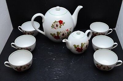 Verbilki Russian Porcelain Tea Coffee Set for 6 Persons Floral Flowers Moose B