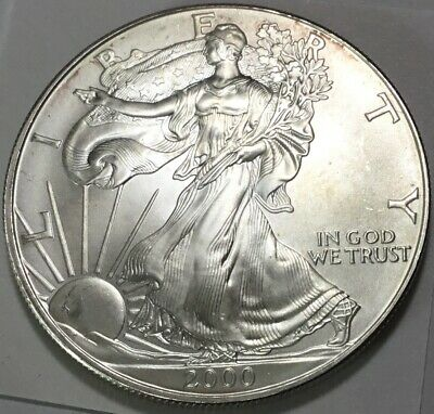 2000 $1 Silver American Eagle With Some Light Hazing
