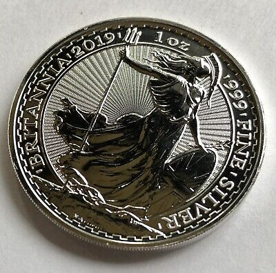 2019 Great Britain 1 oz. Silver Britannia £2 Coin GEM BU ~ Free Shipping