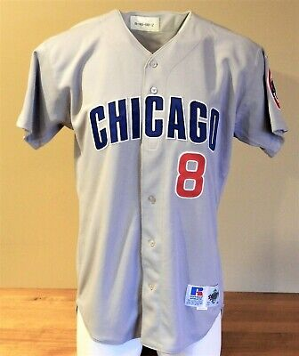 f800480f185 1998 Sandy Martinez (Set 2) Game Worn Chicago Cubs Road Jersey  8 -