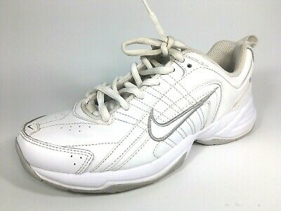 860c45e1ff9f9 Nike Women s Shoes T-Lite VIII Training White Leather Lace Up 386508-111  Size