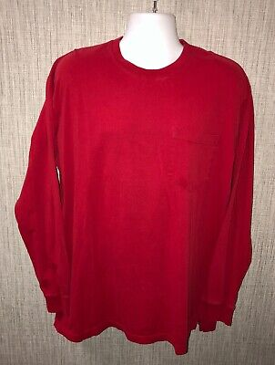 Duluth Trading Co Mens Red Long Sleeve T-Shirt Size L