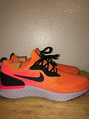40909933f3b6 NIKE EPIC REACT FLYKNIT COPPER FLASH ORANGE-BLACK SZ 11.5 AQ0067-800 No Box