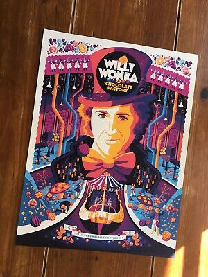 """Willy Wonka & The Chocolate Factory"" Artist-Tom Whalen (Variant) Print!$95 Obo"