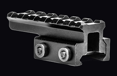 """BM0907EX Tactical Picatinny Cantilever.75/"""" Riser 3.73/"""" Long with 9 Slots"""